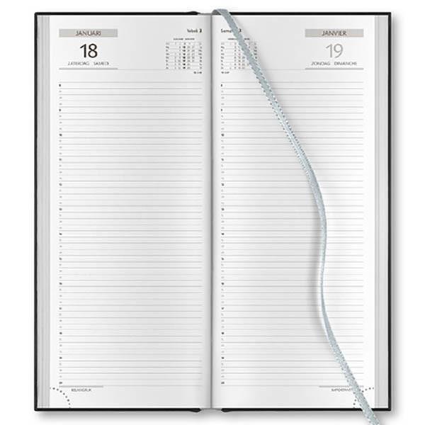 Afbeelding van agenda Castelli 2021 H74 Praktijk Balacron 140x330mm 1/1 - blauw - zwart