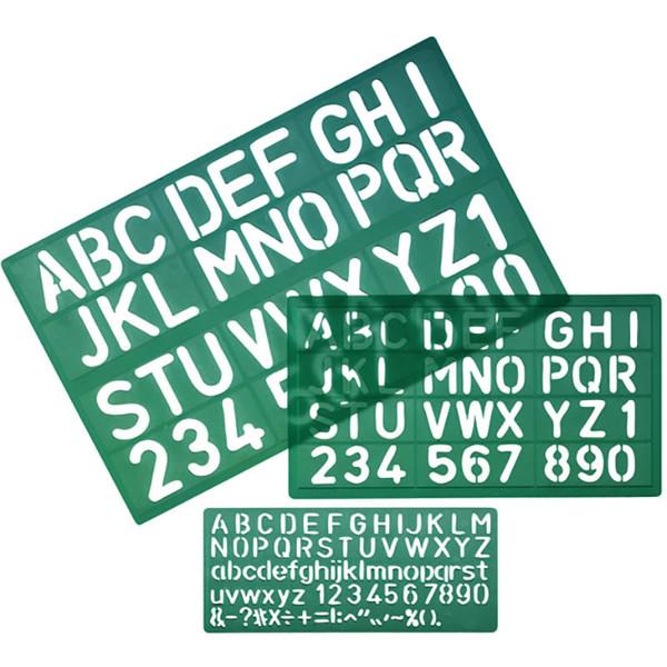 Afbeelding van lettersjabloon Linex 8500S  10 - 20 - 30mm