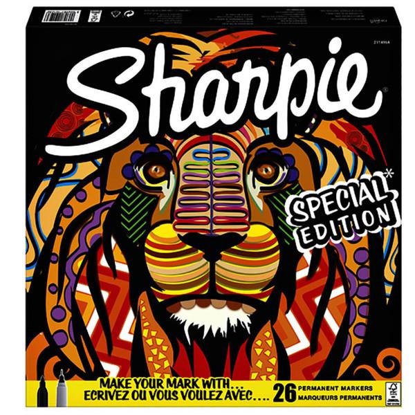 Afbeelding van viltstift Sharpie Fine 1.0mm permanent 20 kleuren, + 6 fineliner