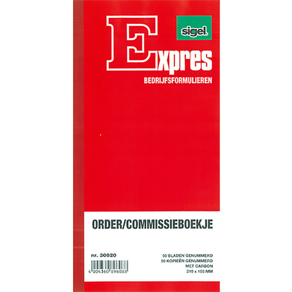 commissieboekje Sigel Expres SI-30020 210x105mm 50x2vel