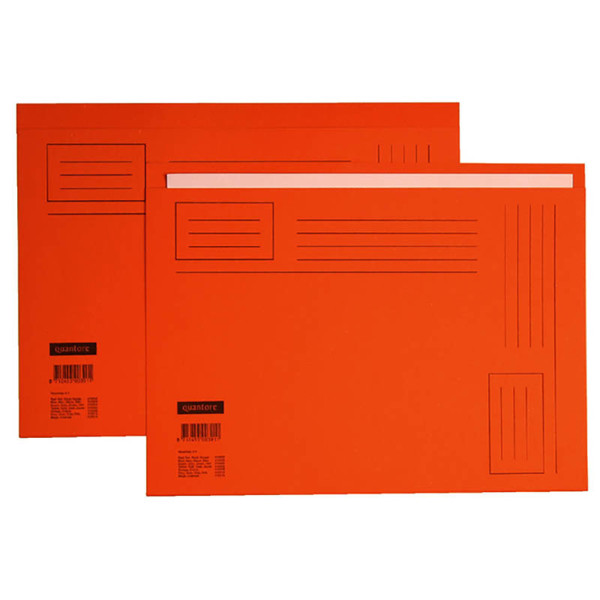 Picture of vouwmap Quantore A4 ongelijke zijde 230gr 10stuks oranje