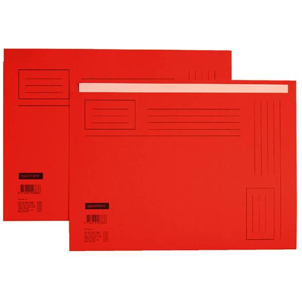 Picture of vouwmap Quantore A4 ongelijke zijde 230gr 10stuks rood