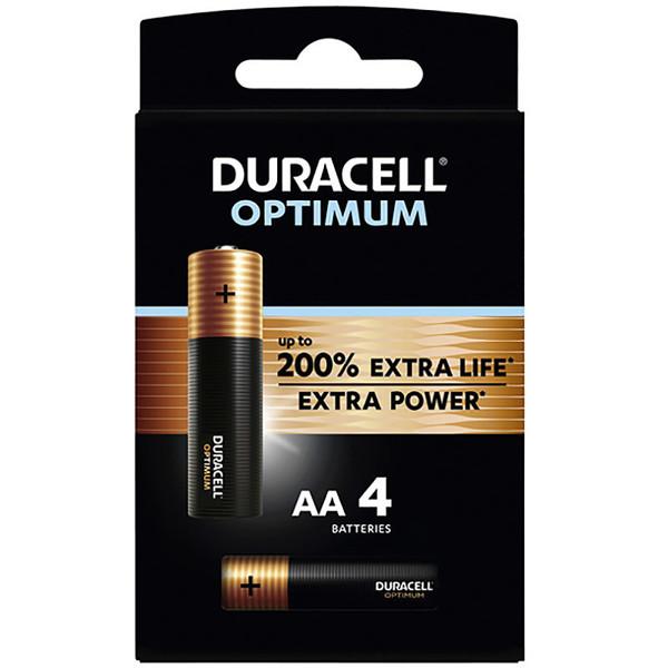 batterij Duracell Optimum AA - 4stuks penlite