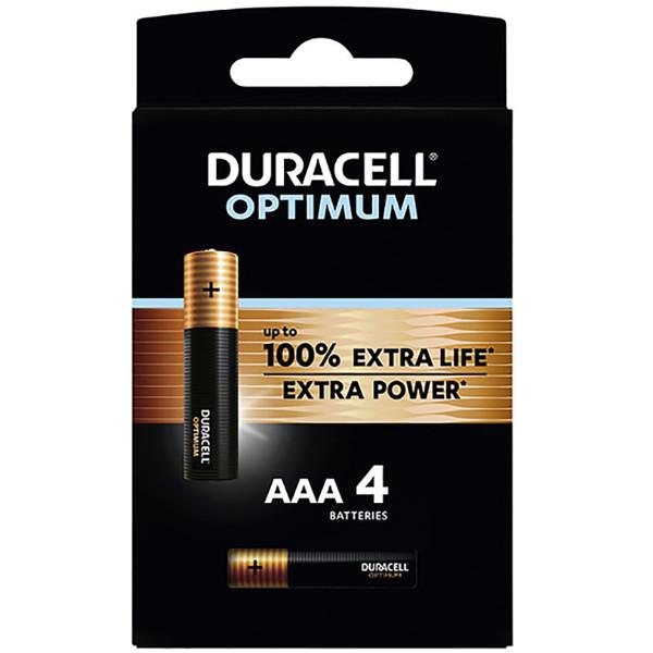 batterij Duracell Optimum AAA - 4stuks potloodcel