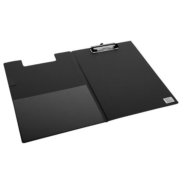 klembordmap Quantore A4 met omslag - 100mm klem + penlus - zwart