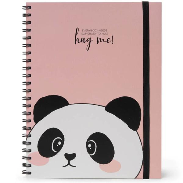 Afbeelding van notitieboek Legami Maxi Trio spiraal 220x290mm - Panda