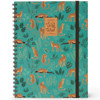 Picture of notitieboek Legami Maxi Trio spiraal 220x290mm - Cheetah