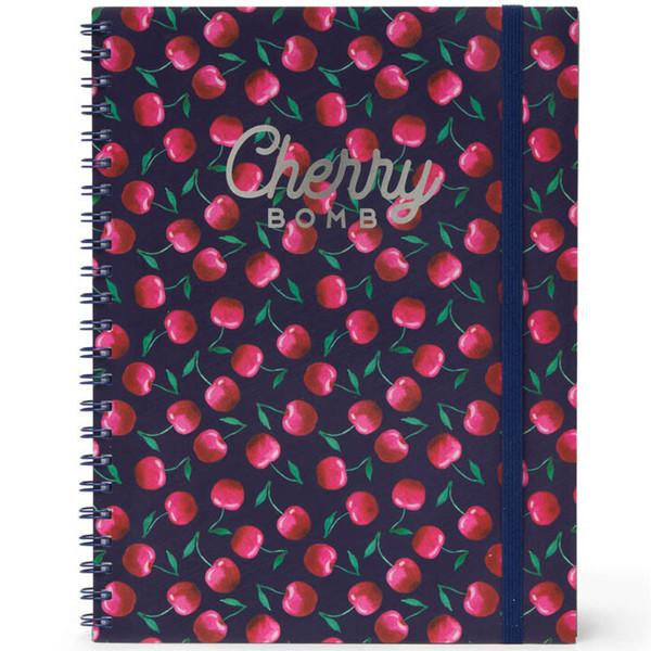 Afbeelding van notitieboek Legami Maxi Trio spiraal 220x290mm - Cherry Bomb