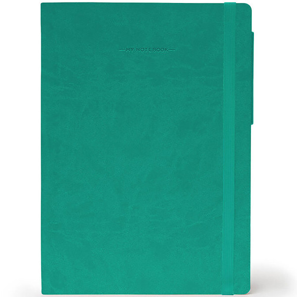 notitieboek Legami My Notebook Large 170x240mm blanco turquoise