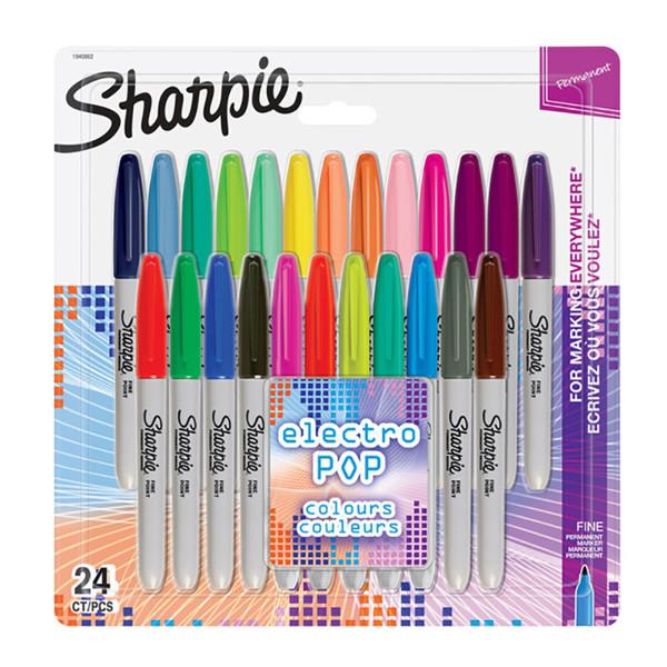 viltstift Sharpie Electro Pop rond 0.9mm 28 kleuren