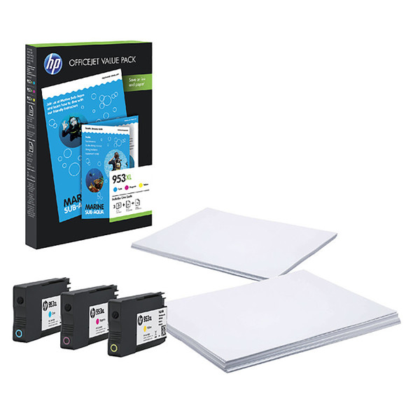 inktcartridge HP 953XL 1CC21AE 953XL 75vel A4 + 3 kleuren