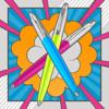 balpen Parker Jotter Original Popart 60s limegreen, skyblue en hotpink
