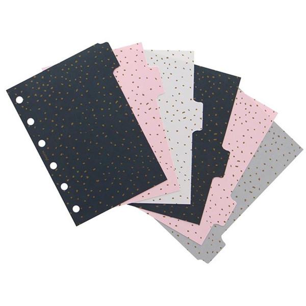 Bild von Filofax Pocket index Confetti 6-tabs assorti coloured