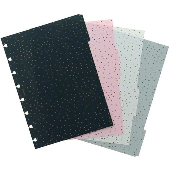 Bild von notitieboek Filofax notebook A5  interieur 4-tabs Confetti assorti coloured
