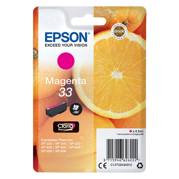 inktcartridge Epson 33 T3343 magenta