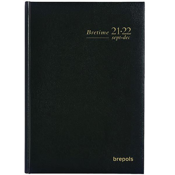 agenda Brepols 2021-2022 Bretime 16M   16 maanden 145x210mm 7/2 Lima - zwart