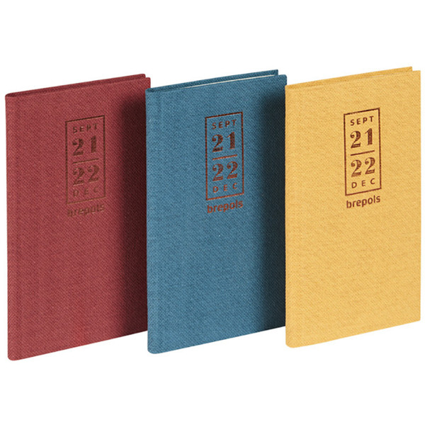 agenda Brepols 2020-2021 16M Interplan 16mnd 89x160mm 7/2 Nature rood - blauw - oker