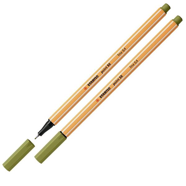 Afbeelding van fineliner Stabilo point 88-37 modder groen