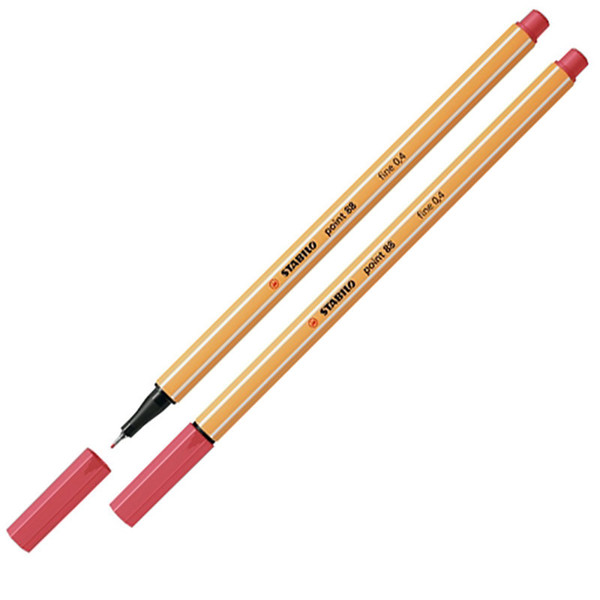 Afbeelding van fineliner Stabilo point 88-47 roestig rood