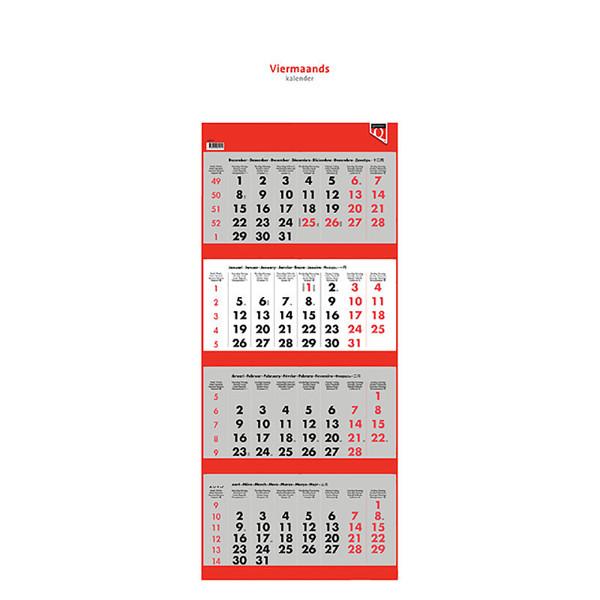 kalender Quantore - 4 maandskalender