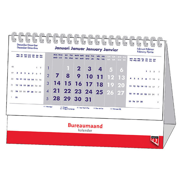 kalender Quantore bureaumaandkalender spiraal