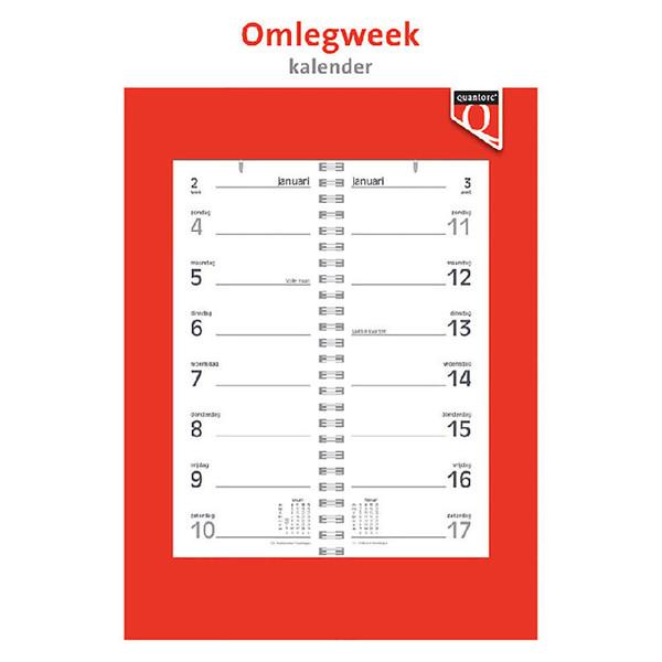kalender Quantore week omlegkalender - middenspiraal