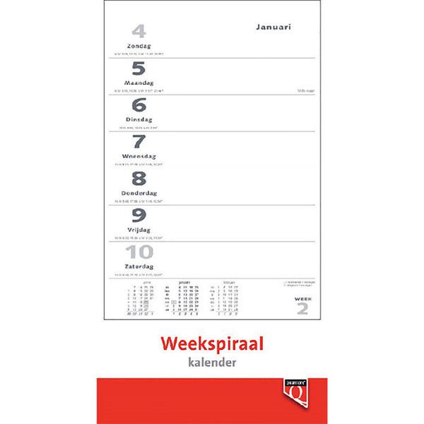 kalender Quantore weekkalender - bovenspiraal