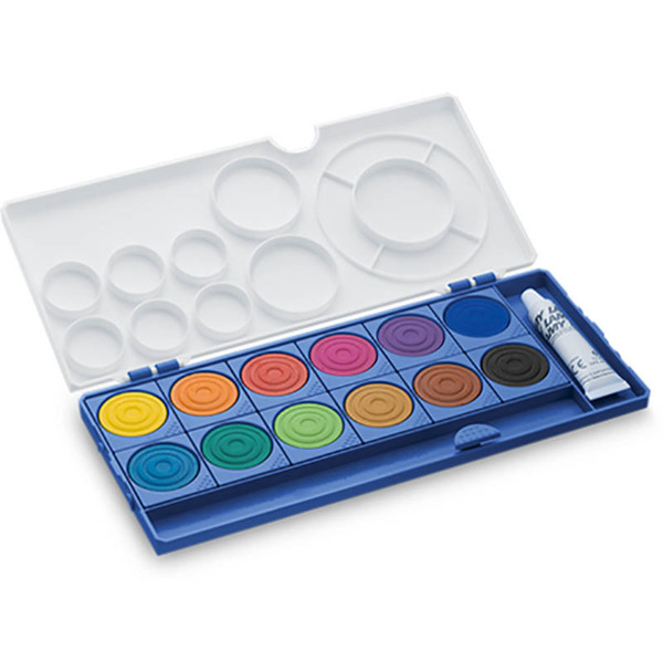 LAMY verfdoos aquaplus 12 kleuren + 1 tube wit blauwe uitvoering