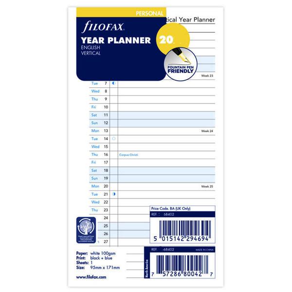filofax Personal jaarplanner vertikaal 2023