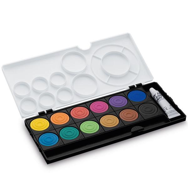 LAMY verfdoos aquaplus 12 kleuren + 1 tube wit zwarte uitvoering