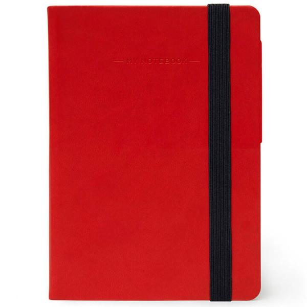 notitieboek Legami My Notebook Smal  95x135mm gelijnd red