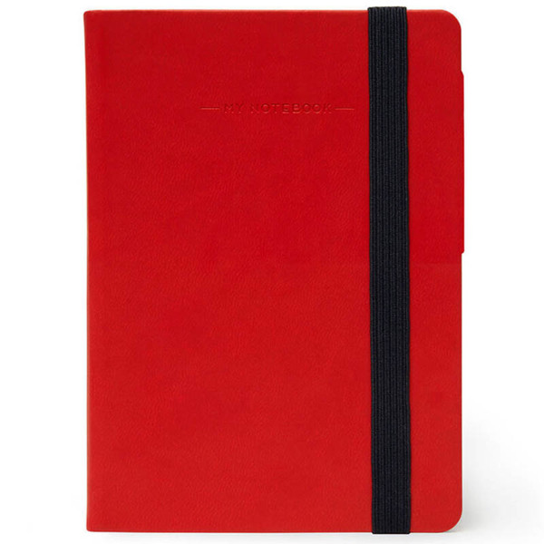 notitieboek Legami My Notebook Smal  95x135mm blanco red