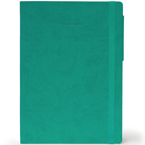 notitieboek Legami My Notebook Smal  95x135mm geruit turquoise