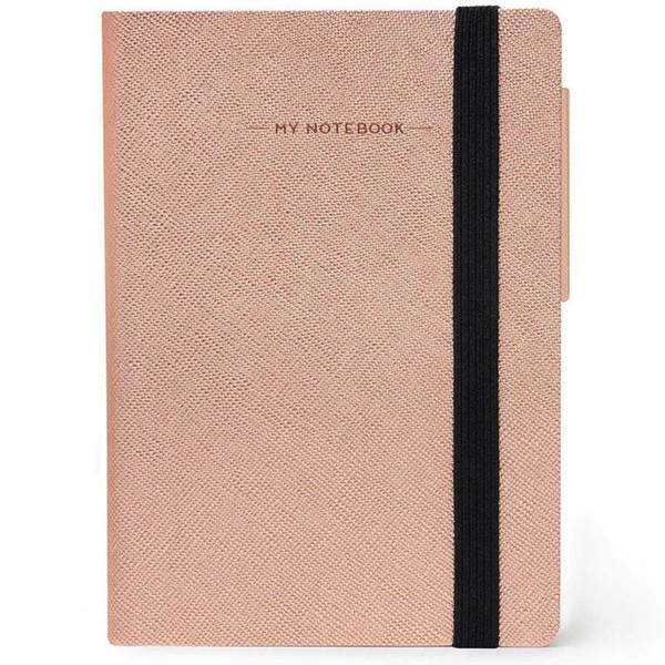 notitieboek Legami My Notebook Smal  95x135mm geruit rose gold