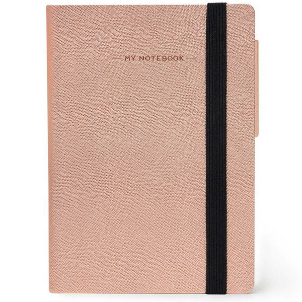 notitieboek Legami My Notebook Smal  95x135mm blanco rose gold