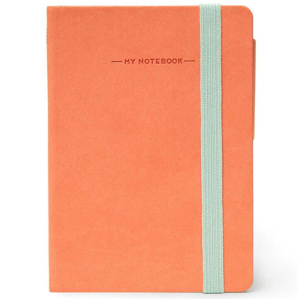 notitieboek Legami My Notebook Smal  95x135mm blanco salmon