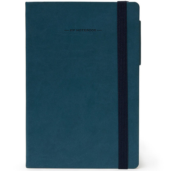 notitieboek Legami My Notebook Medium 120x180mm geruit petrol blue