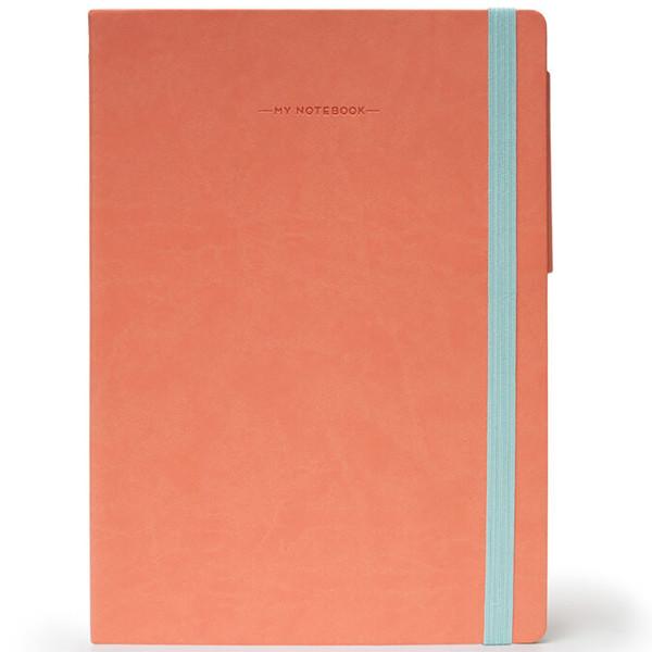 notitieboek Legami My Notebook Medium 120x180mm geruit salmon