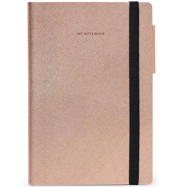 notitieboek Legami My Notebook Medium 120x180mm geruit rose gold
