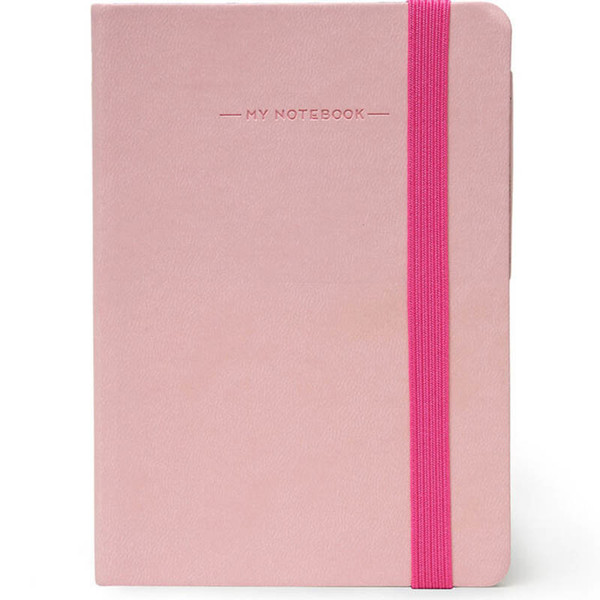 notitieboek Legami My Notebook Smal  95x135mm blanco pink