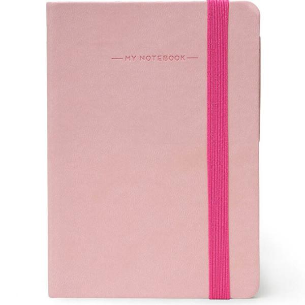 notitieboek Legami My Notebook Medium 120x180mm geruit pink