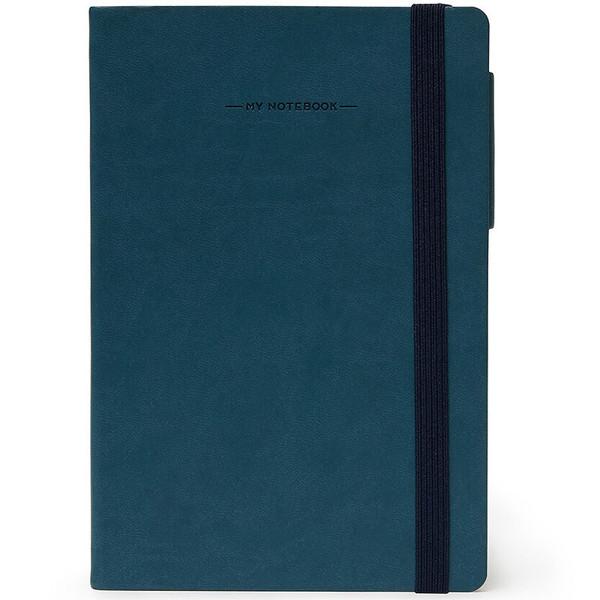 notitieboek Legami My Notebook Large 170x240mm geruit petrol blue